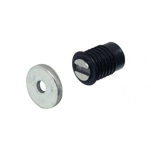 Магнитная защелка д/отв. D=8 мм, 2 кг (черный), Hafele