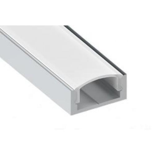 Профиль LED накладной с прозрачной вставкой, L-2000 мм, алюм.