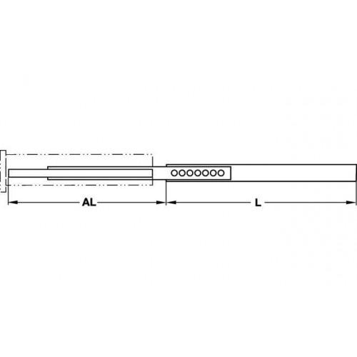 Hafele Напр. полновыдв. 45мм шариковая L=250