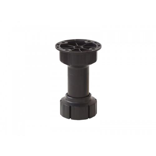 Ножка кухонная 10см черная б/клипсы Scilm