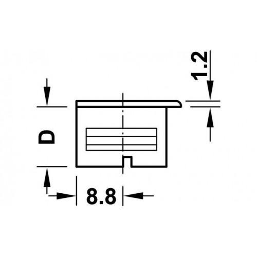 Стяжка - RAFIX для детали 16мм, Металлик, глуб. сверлен. 12,7 мм, Hafele