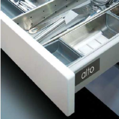 Hafele ALTO выдвижной ящик H=84 L=400, серый (направ.+боковины)