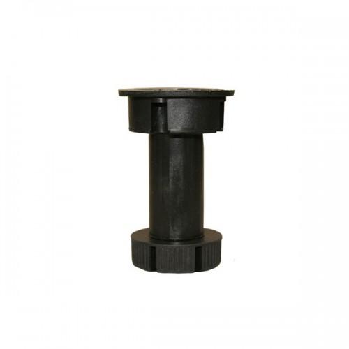Ножка кухонная 10см черная с клипсой (1 Клипса на 2 ножки)