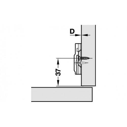Hafele Лапка METALLA SM N крестовая H=0