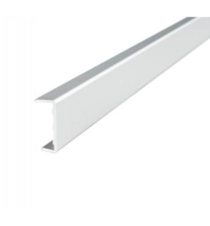 Профиль  C 18  алюминиевый фасадный  L=3000 (внутр. размер 18,2 мм)