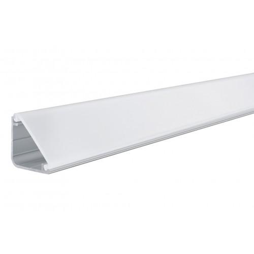 Профиль LED угловой с прозрачной вставкой, L-2000 мм, алюм.