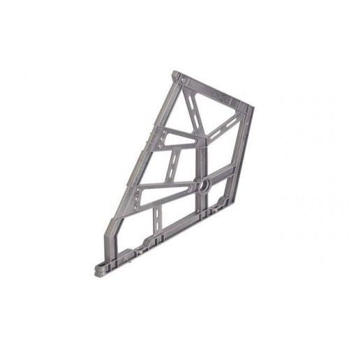 Обувной механизм 2-е полки серый/черный пластик