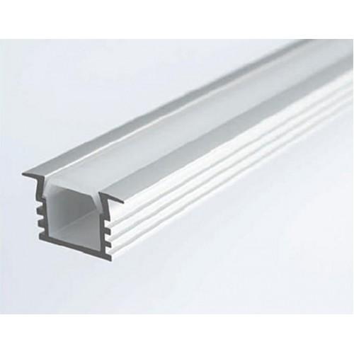 Профиль LED врезной с прозрачной вставкой, L-2000 мм, алюм.